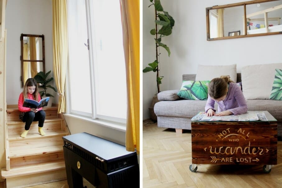 Budapest airbnb review living room