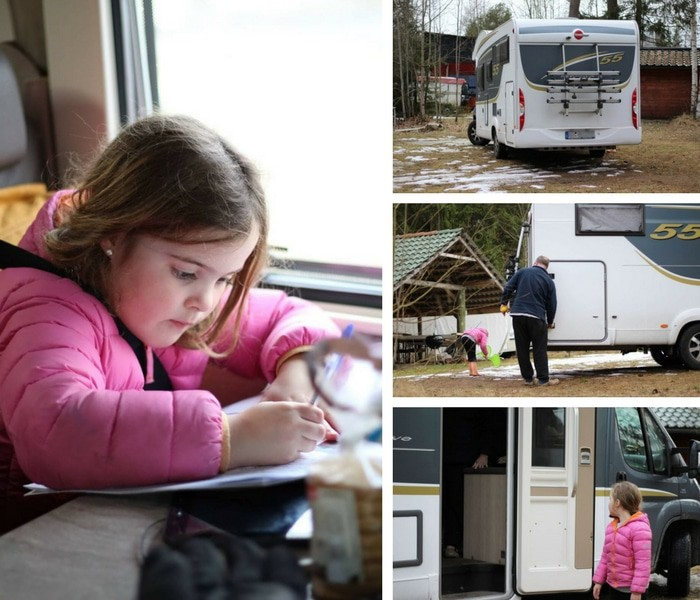 Campervan collage pictures