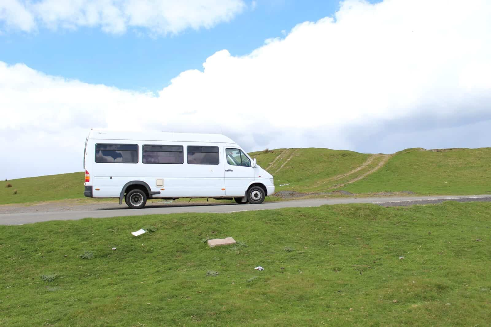 Travelling on a converted camper van