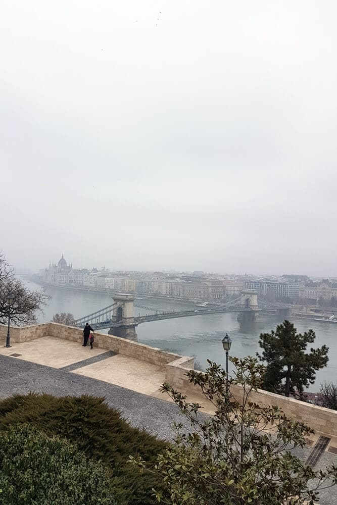 Buda castle view to the Danube