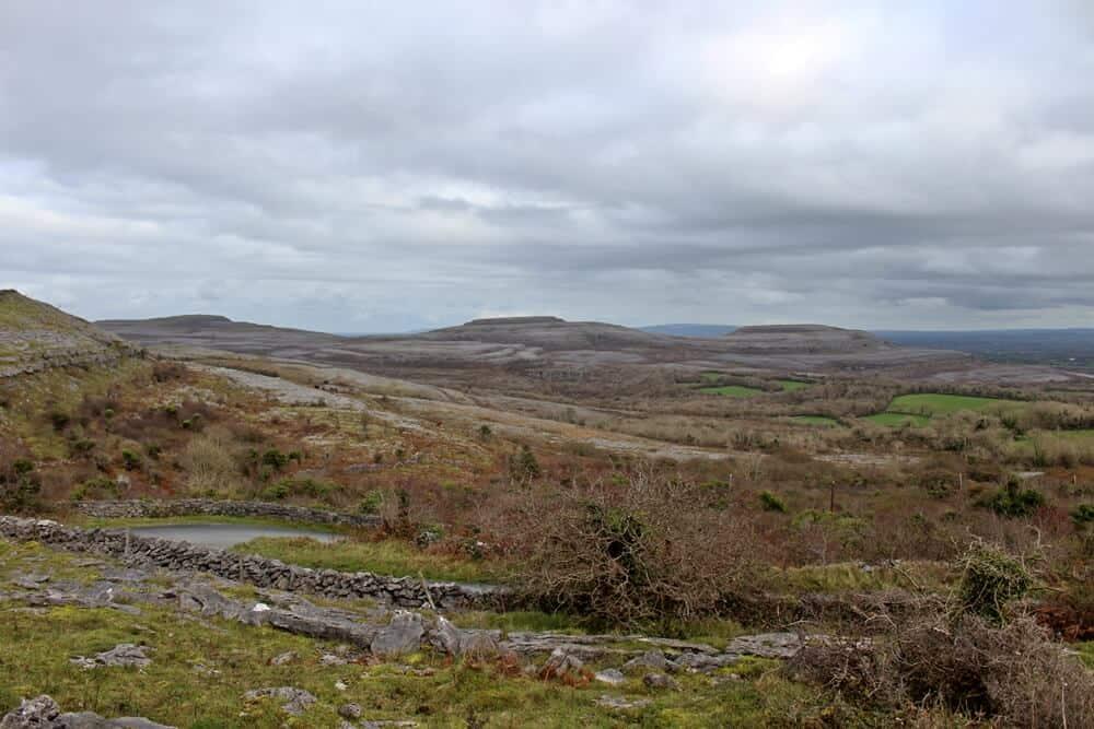 Burren limestone pavement landscape