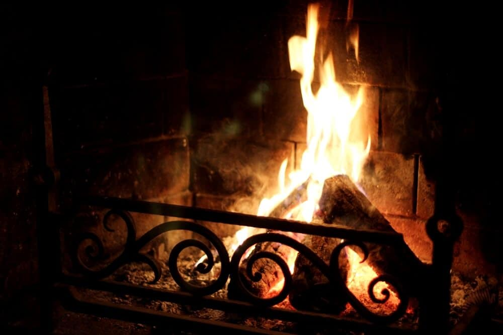 Cozy by the fire in a restaurant in Tallinn