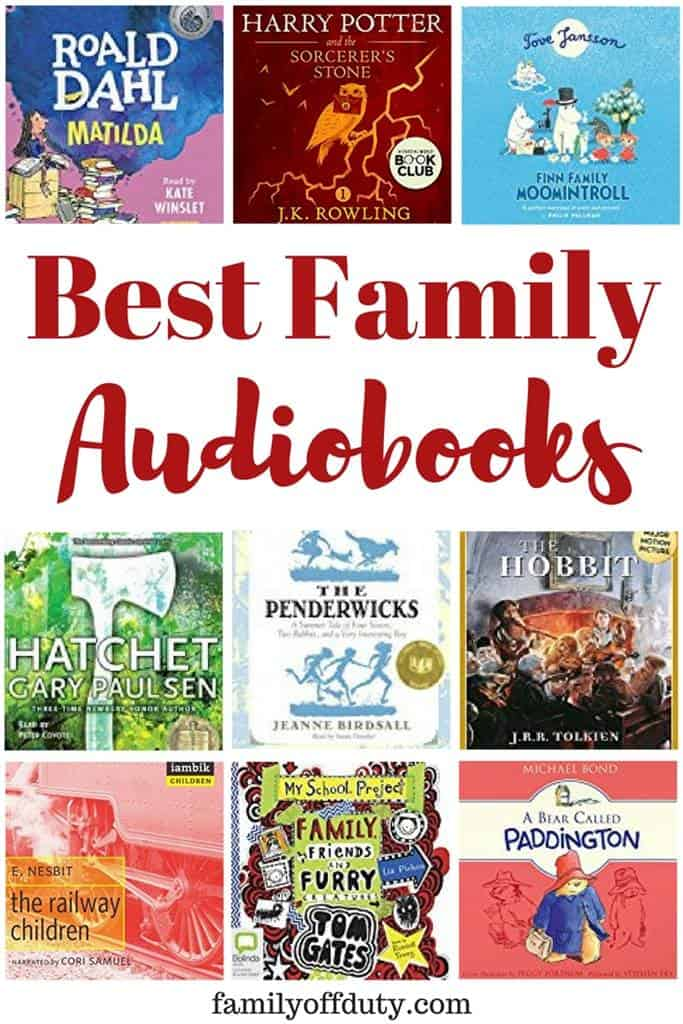 Family friendly audio books for road trips