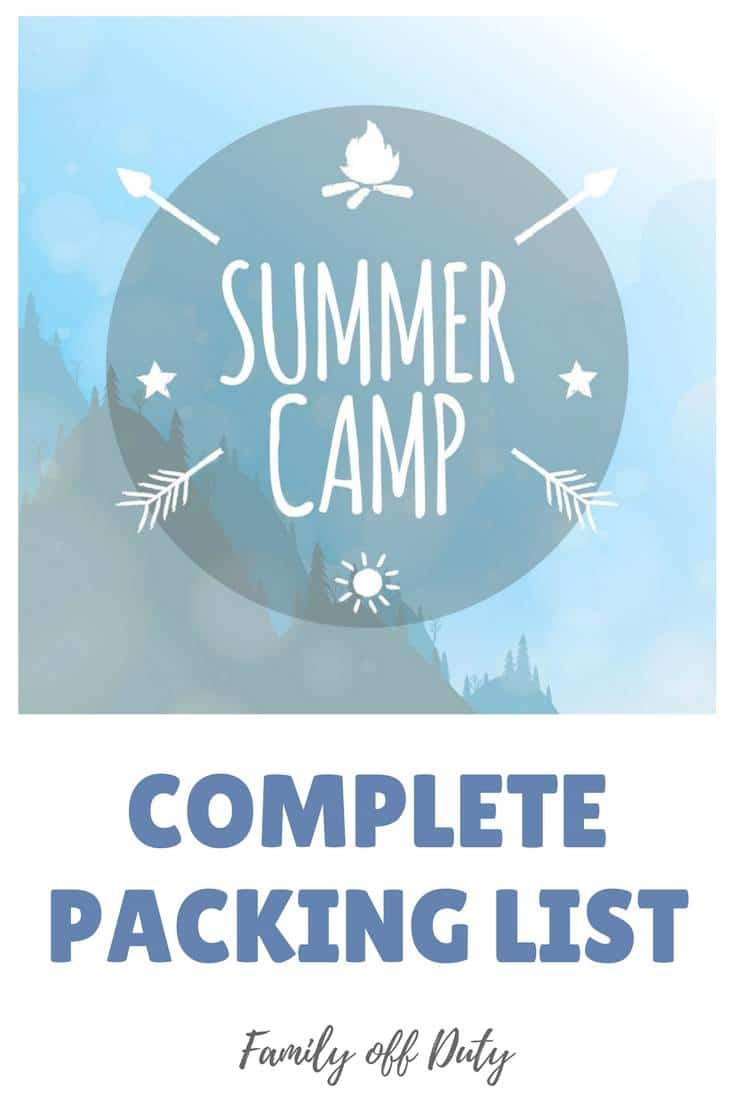 Summer camp complete packing list #summercamp #packinglist #summercamppacking