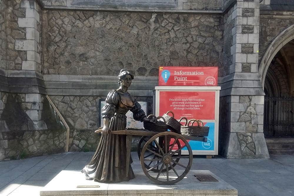 Statue of Molly Malone.