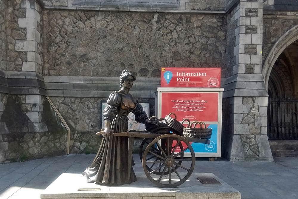 Statue of Molly Malone.