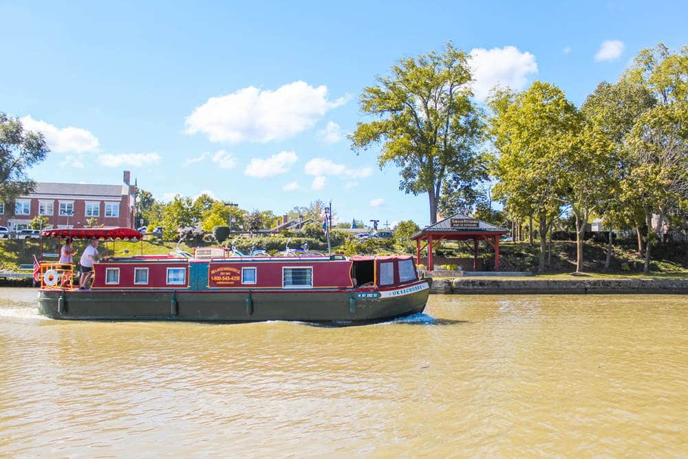 Go on the water with Erie Canal Cruise Sam Patch during your Rochester family trip.