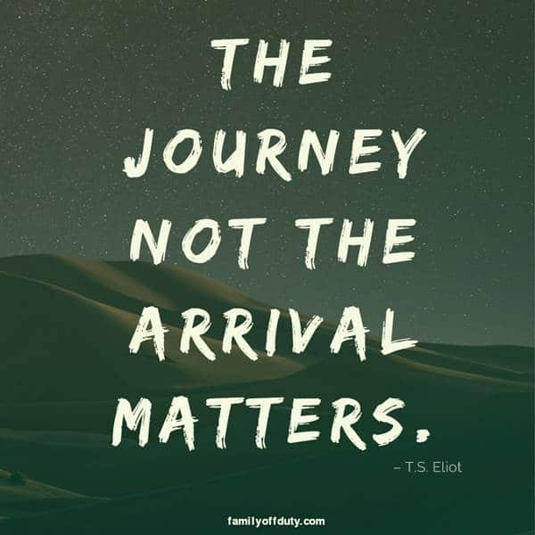 short travel quotes for instagram - the journey not the arrival matters.