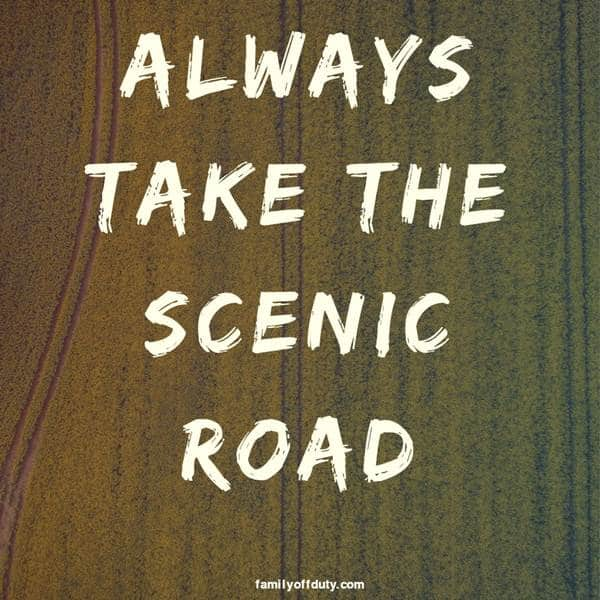 travel quotes short - always take the scenic road