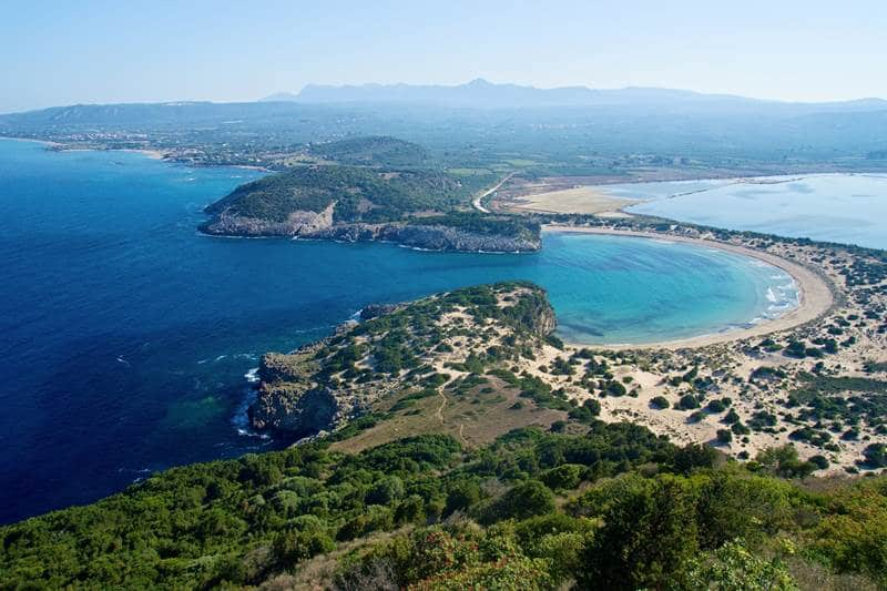 Voidokilia beach Messinia, best Peloponnese beaches