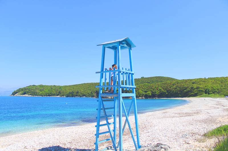Avlaki Beach guard post