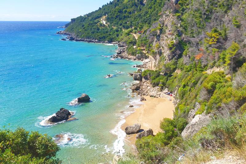 A list with 21 best beaches in Corfu Greek island