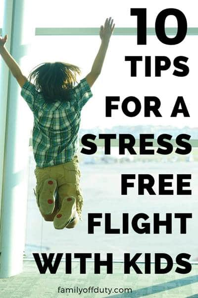 tips for a stress free flight with toddlers