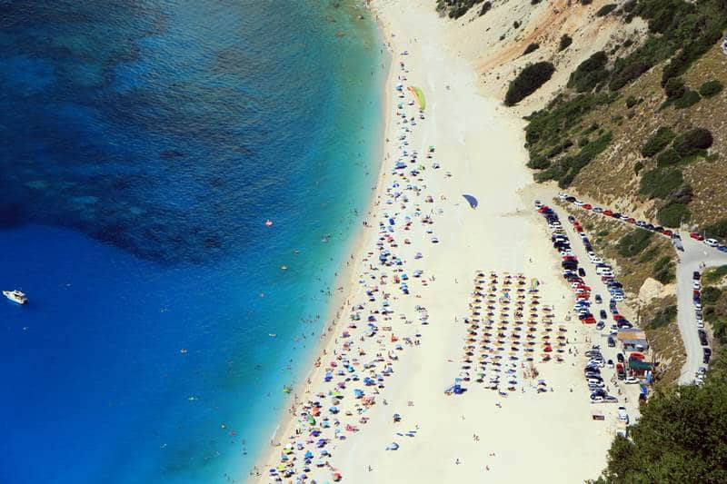 Myrtos beach, best beach in Kefalonia