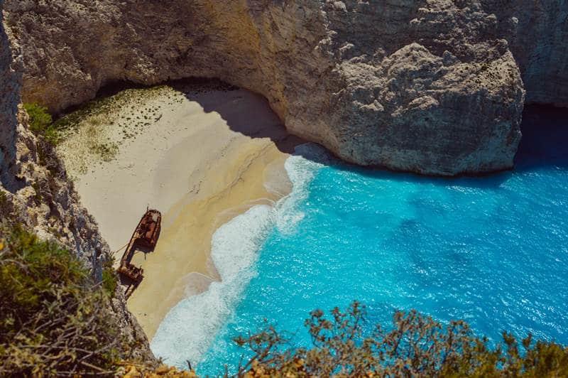 Navagio beach Zakynthos, shipwreck beach