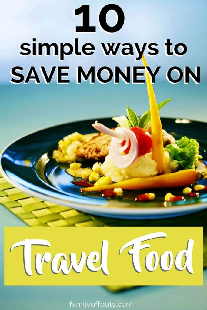 Going on a vacation with a tiny budget? Here are some of my best tips how to save money on food while traveling. Save with these simple tips to help you eat well on a small budget. #travel #travelbudget #budgettravel #foodtravel