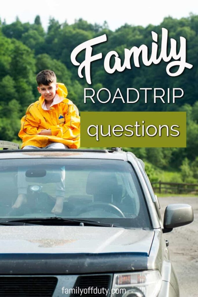 Going on a road trip? Find here 60 family road trip questions, trivia, and conversation starters to make fun new memories with your kids. These questions are family friendly, but entertaining for everyone! Printable list included! #roadtrip #roadtripgames #kidsactivities #roadtrips #familyroadtrips #riddles #games #cartrip #familytravel #travelentertainment #travelgames #familyvacation