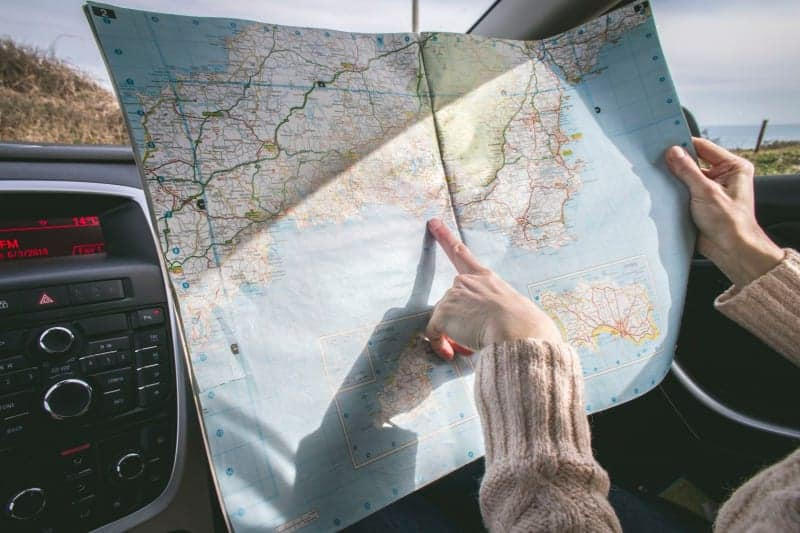 road trip itinerary map