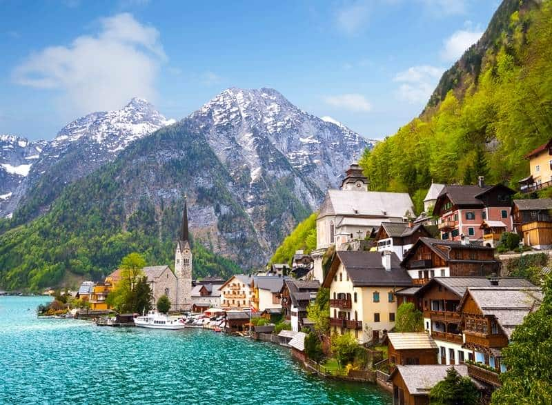 Hallstatt fairytale europe