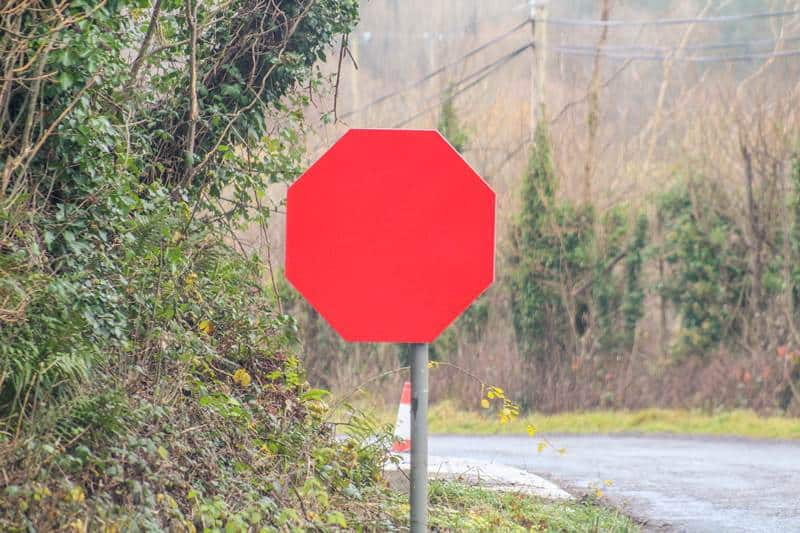 stop sign?