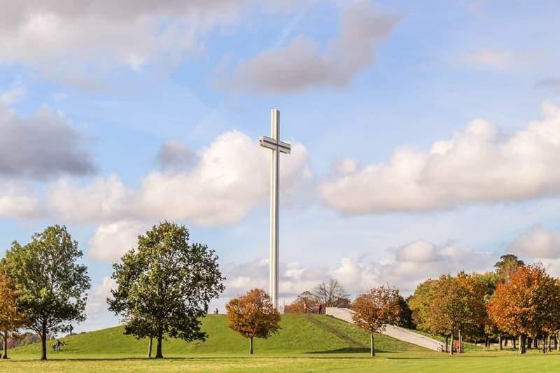Phoenix park in Dublin papal cross
