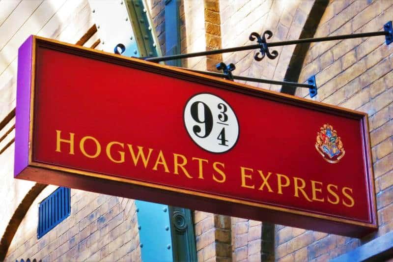 Hogwarts express on Platform 9 ¾