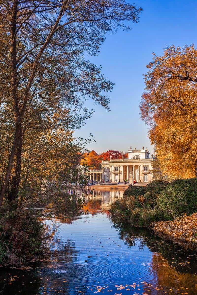 Lanzienki park in Warsaw Poland