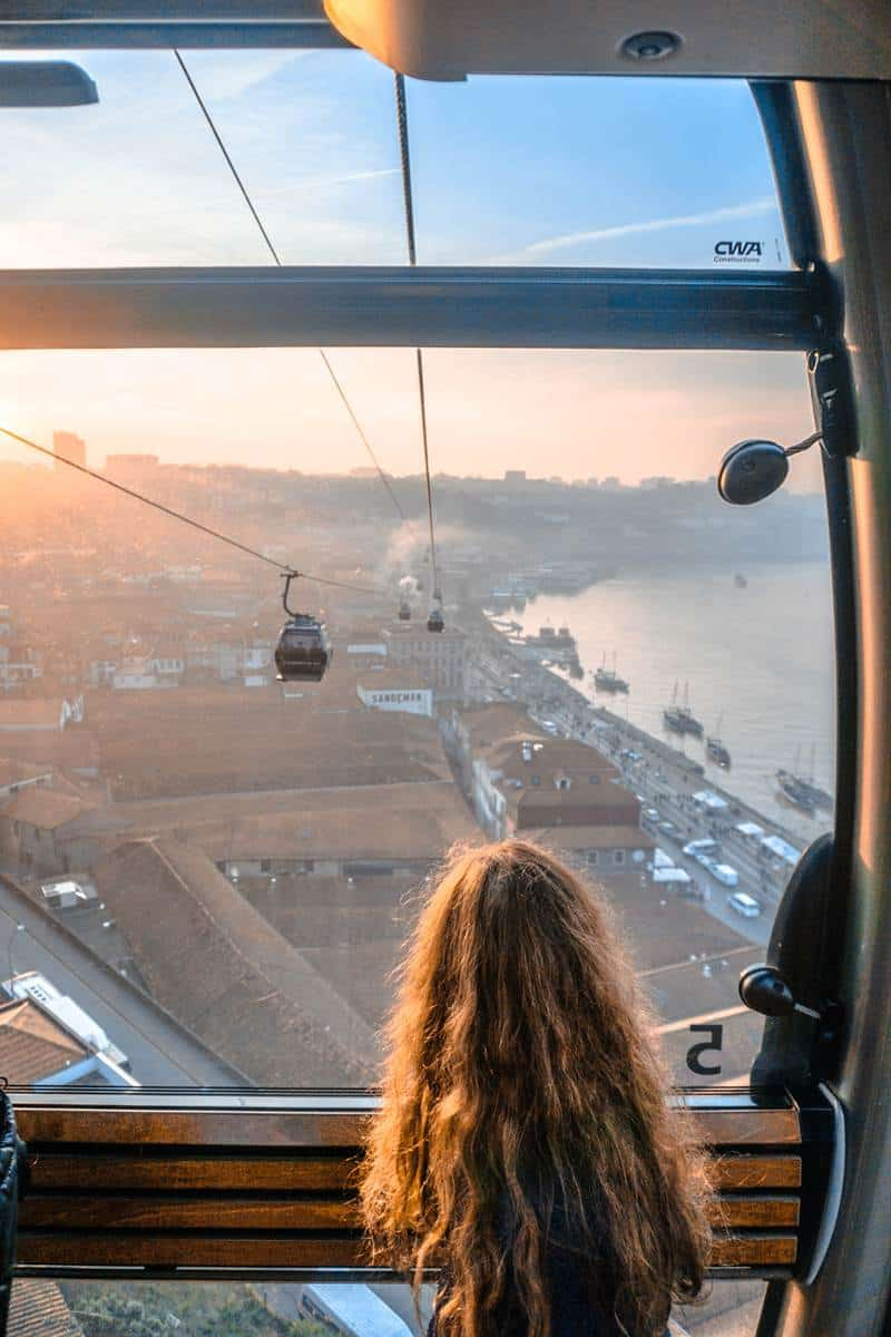 Cable car in Gaia