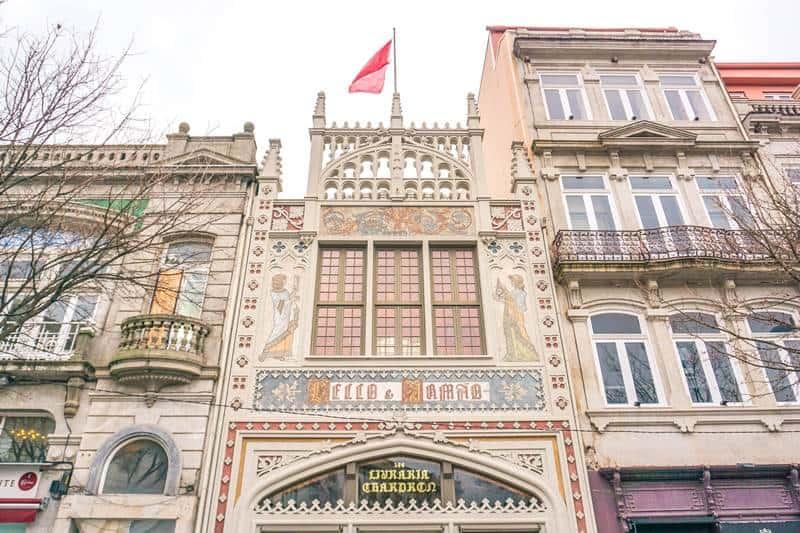 Livraria lello bookstore facade