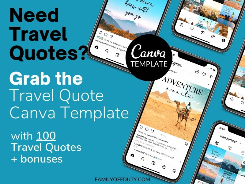 Travel quotes template